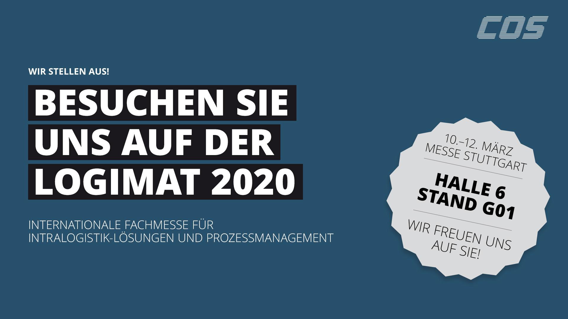 C.O.S. Software GmbH auf der LogiMAT 2020