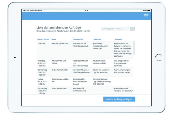 C.O.S. Software GmbH - ServiceApp